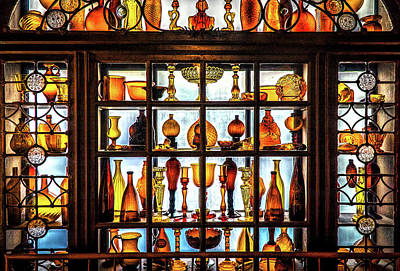Photograph - Yellow Glass Collection 1 by Lilia D
