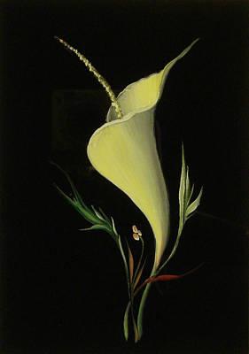 Yellow Glass Art Print by Venyamin Astashov