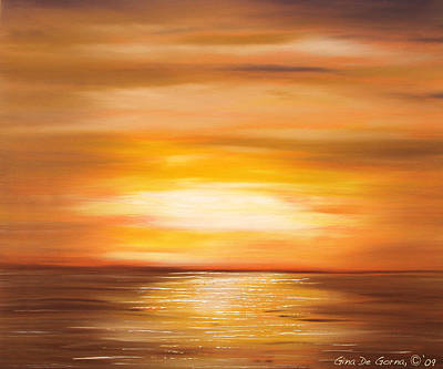 Painting - Yellow Gold Sunset by Gina De Gorna