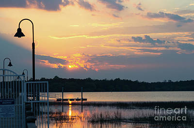 Photograph - Yellow Gold Sunset Tapestry by Dale Powell