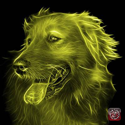Digital Art - Yellow Golden Retriever - 4057 Bb by James Ahn