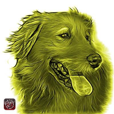 Digital Art - Yellow Golden Retriever - 4057 Wb by James Ahn