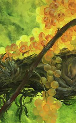 Yellow Grape Original by Natalia Mikhaylina