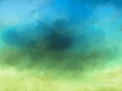 Digital Art - Yellow Green Blue by Jan Brons