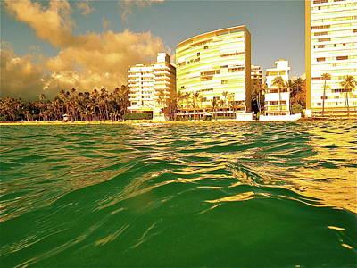Digital Art - Yellow-green Kaimana Swim by Erika Swartzkopf