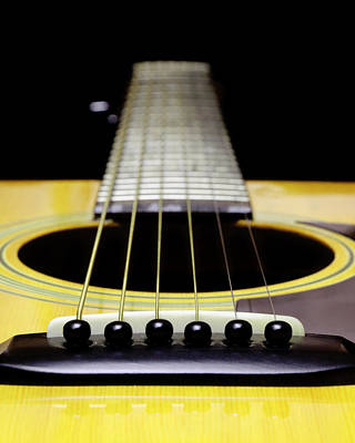 Photograph - Yellow Guitar 17 by Andee Design