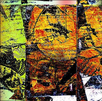 Expressionism Mixed Media - Yellow Halftone Variance by KA Davis