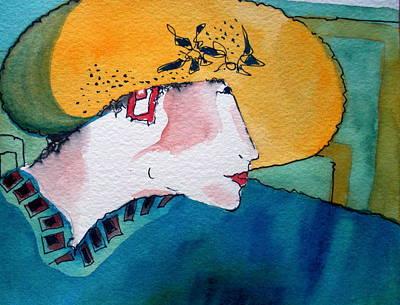 Yellow Hat Art Print by Jane Ferguson