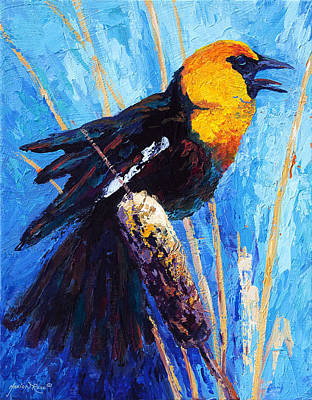 Painting - Yellow Headed Blackbird by Marion Rose