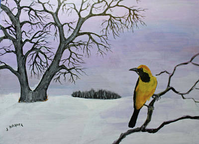 Painting - Yellow Headed Oriole by Jack G Brauer