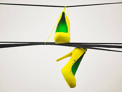 Photograph - Yellow Heels On A High Wire by Robin Zygelman
