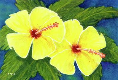 Yellow Hibiscus Flower #292 Art Print by Donald k Hall