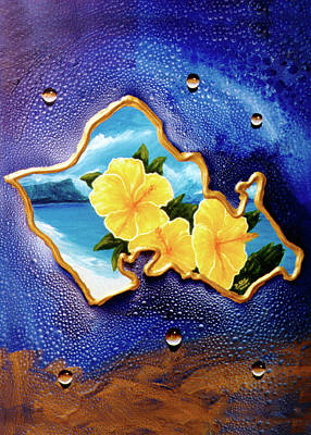 Yellow Hibiscus Hawaii State Flower #142 Art Print by Donald k Hall