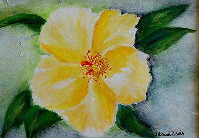 Painting - Yellow Hibiscus by Jamie Frier