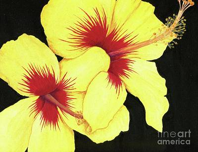 Painting - Yellow Hibiscus by Tammie Painter