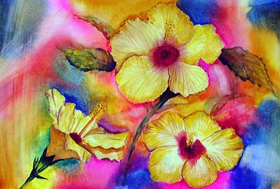 Yellow Hibiscus Art Print by Tina Storey