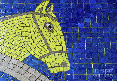 Photograph - Yellow Horse by Ethna Gillespie