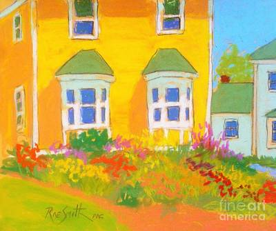 Pastel - Yellow House Garden by Rae  Smith PAC