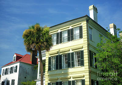 Photograph - Yellow House On East Bay Street Charleston by John Rizzuto