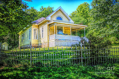 House Of Usher Photograph - Yellow House On The Hill by Lynn Sprowl