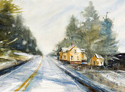 Painting - Yellow House On The Right by Judith Levins