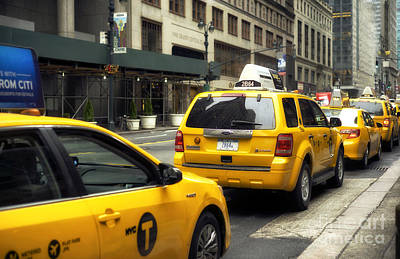 Photograph - Yellow In New York City by John Rizzuto