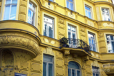 Photograph - Yellow In Vienna by John Rizzuto
