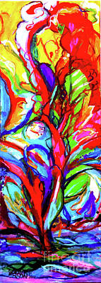 Fantasy Royalty-Free and Rights-Managed Images - Yellow Iris Abstract by Genevieve Esson