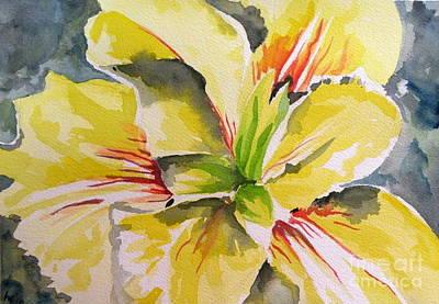 Yellow Iris Art Print by Holly York