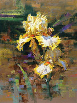 Pastel - Yellow Iris II by Mark Mille