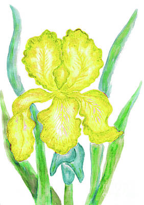 Painting - Yellow Iris by Irina Afonskaya