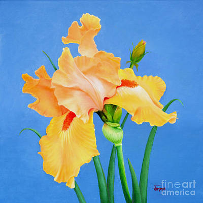Painting - Yellow Iris by Jimmie Bartlett