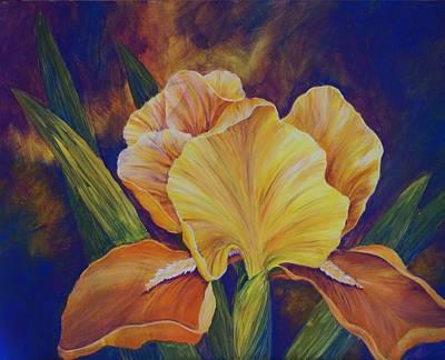 Painting - Yellow Iris by Linda Bein