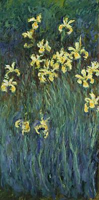 Painting - Yellow Irises by Claude Monet