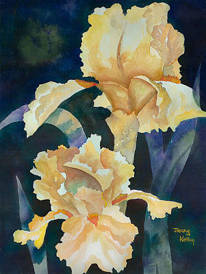 Painting - Yellow Irises by Jerry Kelley