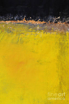 Renovation Painting - Yellow Is The New Black by WALL ART and HOME DECOR