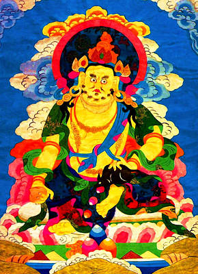 Hindu Goddess Photograph - Yellow Jambhala 4 by Lanjee Chee