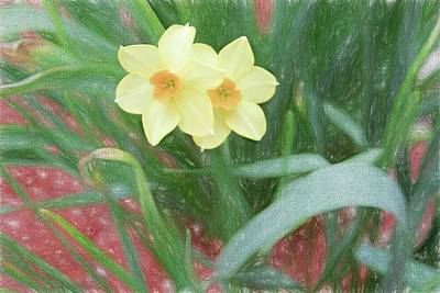 Digital Art - Yellow Jonquils by Rusty R Smith