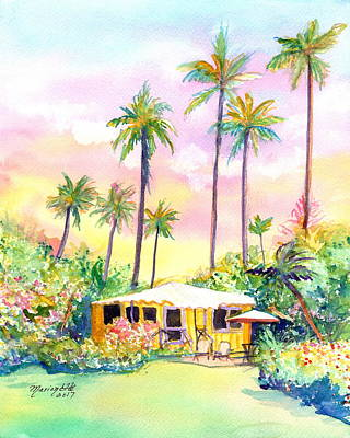 Painting - Yellow Kauai Cottage by Marionette Taboniar