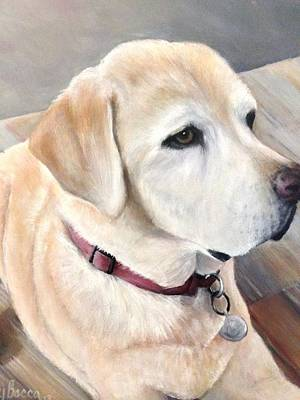 Painting - Yellow Lab by FayBecca Designs
