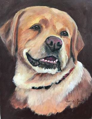 Painting - Yellow Lab by Gloria Smith