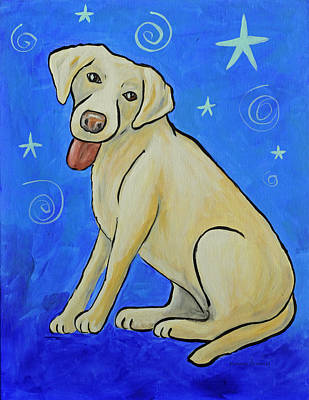 Painting - Yellow Lab by Kenny Francis