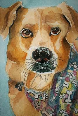 Drawing - Yellow Lab by Mindy Newman