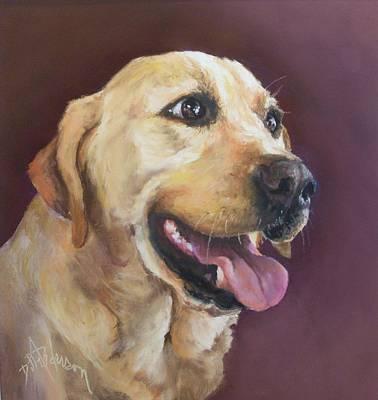 Yellow Labrador Art Print by Debbie Anderson