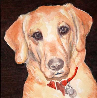 Labrador Retreiver Painting - Yellow Labrador Retreiver by Toni Tiu