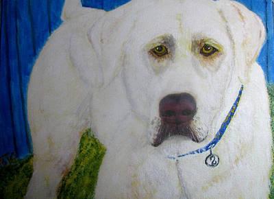 Painting - Yellow Labrador Retriever Original Acrylic Painting by Barbara Giordano