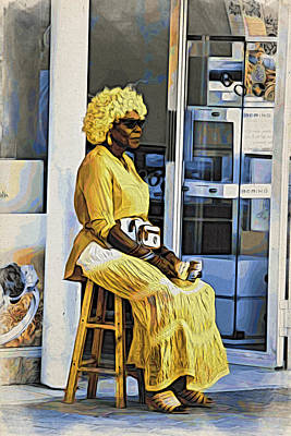 Photograph - Yellow Lady Waiting by Alice Gipson