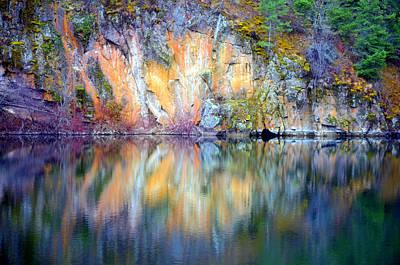 Photograph - Yellow Lake Abstract by Tara Turner