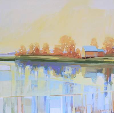 Cape Cod Painting - Yellow Landscape by Ezartesa Art