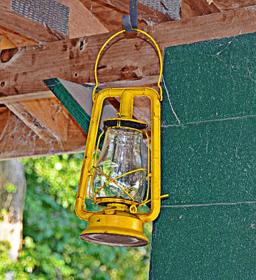 Photograph - Yellow Lantern by Linda Brown